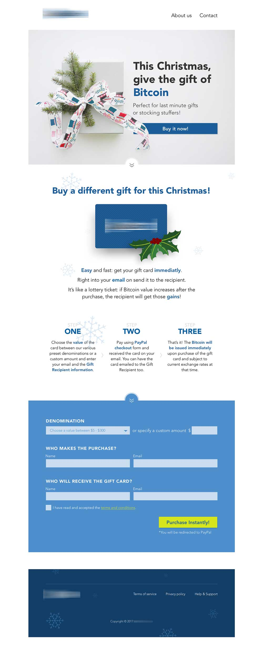 Julia Menéndez diseño web freelance Diseño landing tarjeta de regalo