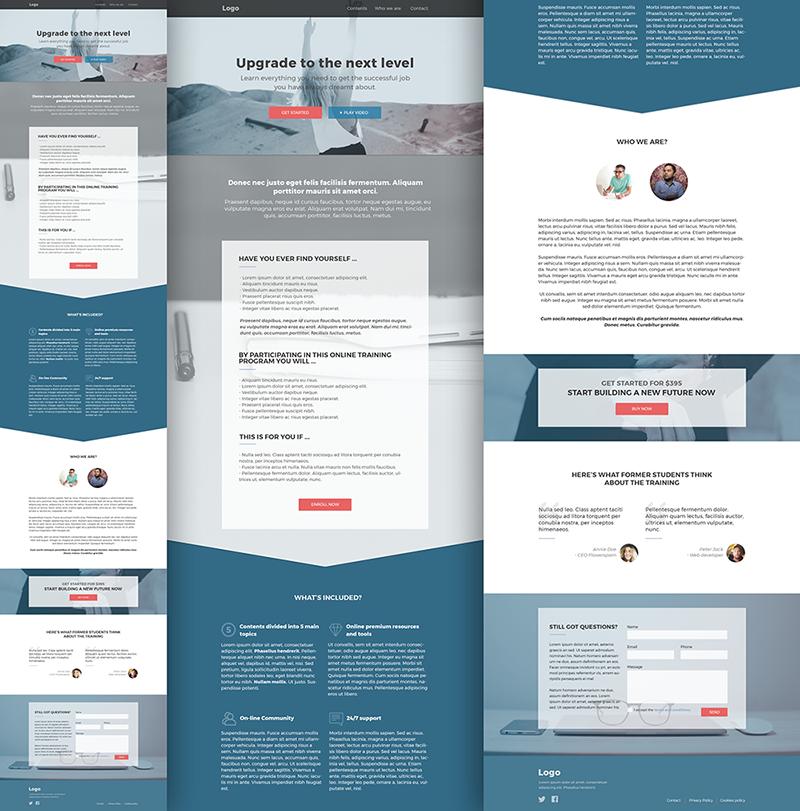 Julia Menéndez diseño web freelance Landing página curso online one page