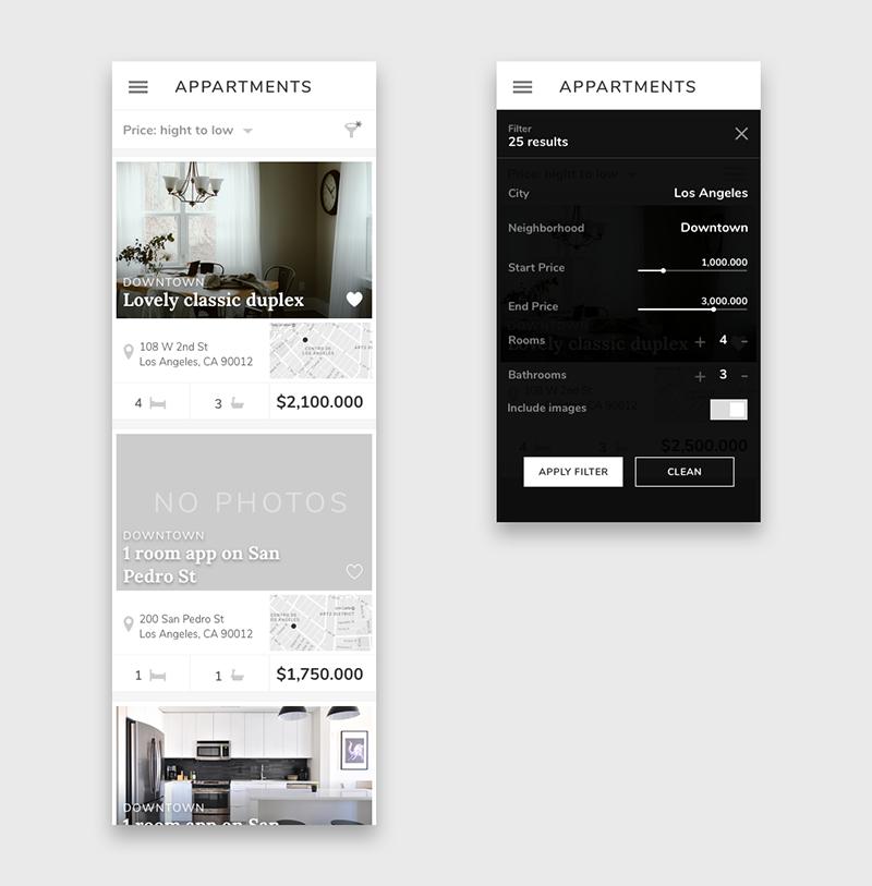 Julia Menéndez diseño web freelance Pantallas Appartment